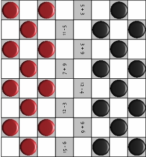 graphic about Printable Checkers Board referred to as Addition And Subtraction Game titles Children Will Delight in And Find out!