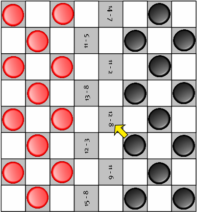 play checkers math