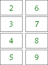 math multiplication game cards 2