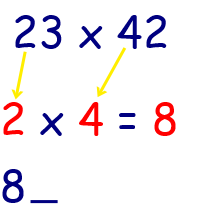 multiplication math tricks 2 digit by 2 digit step 1 pic