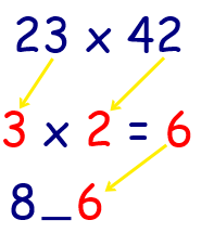 multiplication math tricks 2 digit by 2 digit step 2 pic