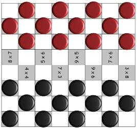 picture about Printable Checkers Board identify This Checker Board Math Sport Is A Ideal Route Towards Train Math