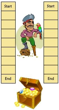 sunken treasure game board