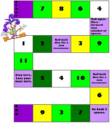 Transformative image within dividing fractions games printable